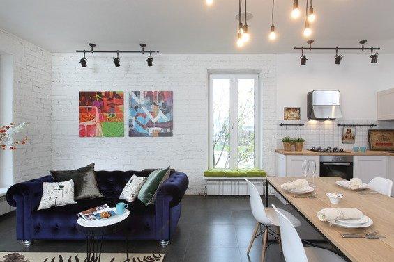 Фотография: Гостиная в стиле Лофт, Декор интерьера, Дом, Eames, Ju-Ju, pottery barn, Дома и квартиры, IKEA, Zara Home, Maison & Objet, Женя Жданова – фото на INMYROOM