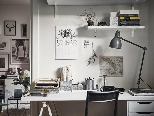 Фотография: Кабинет в стиле Скандинавский, Декор интерьера, Квартира – фото на INMYROOM