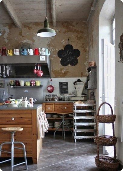 Фотография: Кухня и столовая в стиле Лофт, Дом, Интерьер комнат – фото на INMYROOM