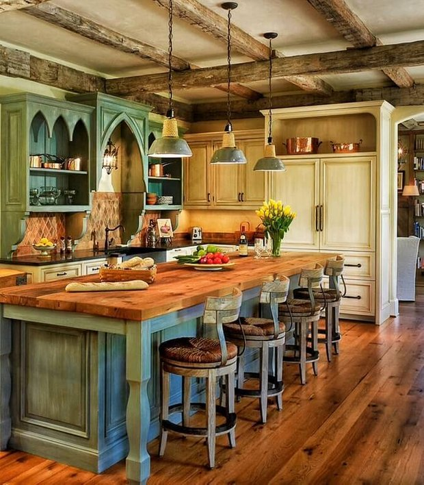 Фотография: Кухня и столовая в стиле Прованс и Кантри, Советы, МШД – фото на INMYROOM