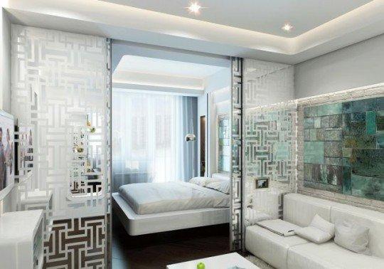 Фотография: Спальня в стиле Современный, Хай-тек, Гостиная, Интерьер комнат – фото на INMYROOM