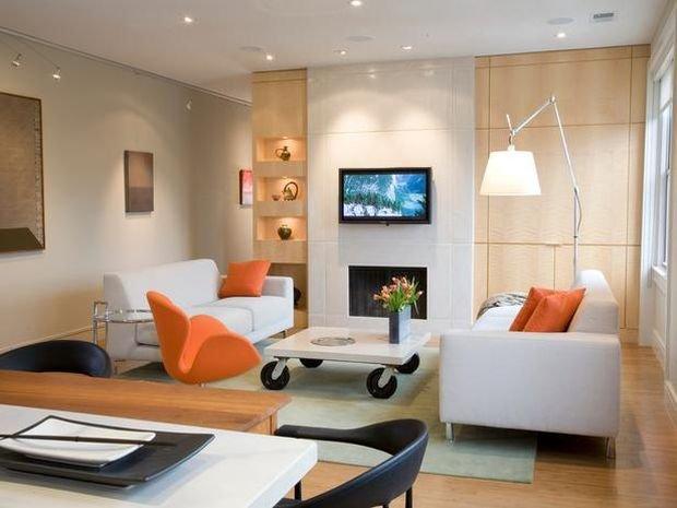 Фотография: Гостиная в стиле Скандинавский, Декор интерьера, Квартира, Дом, Декор – фото на INMYROOM