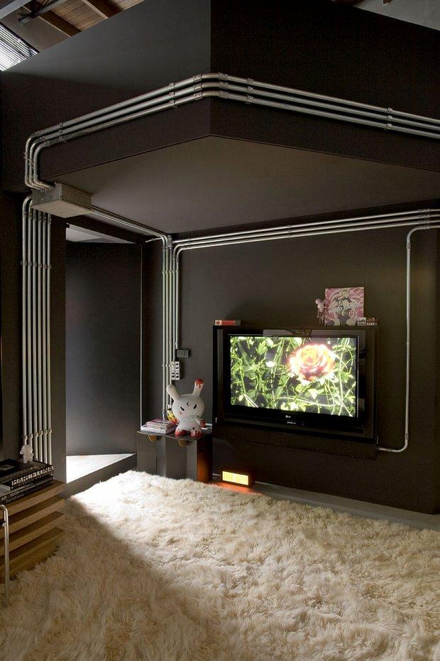 Фотография:  в стиле Лофт, Современный, Квартира, Дома и квартиры, Интерьеры звезд – фото на INMYROOM