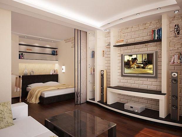 Фотография: Гостиная в стиле Прованс и Кантри, Декор интерьера, Малогабаритная квартира, Квартира, Студия, Планировки, Мебель и свет – фото на INMYROOM