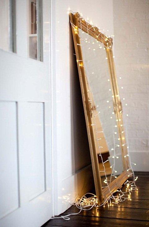 Фотография: Декор в стиле Скандинавский, Декор интерьера, Декор дома, Праздник, Новый Год, Гирлянда – фото на INMYROOM