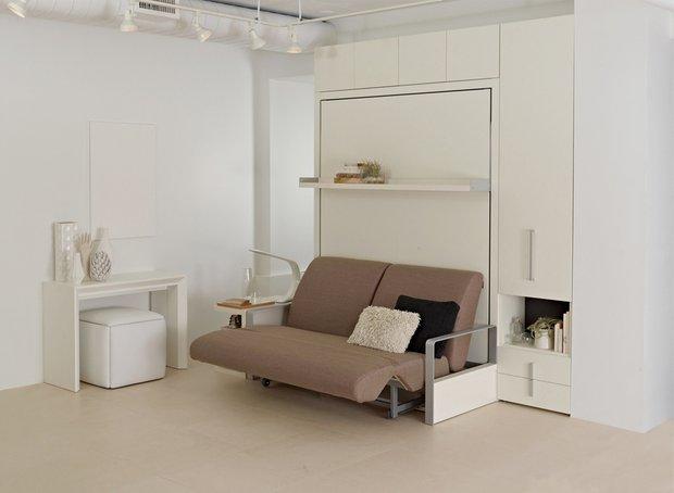 Фотография: Ванная в стиле Современный, Советы, Бежевый, Серый, Мебель-трансформер, кровать-трансформер, диван-кровать – фото на INMYROOM