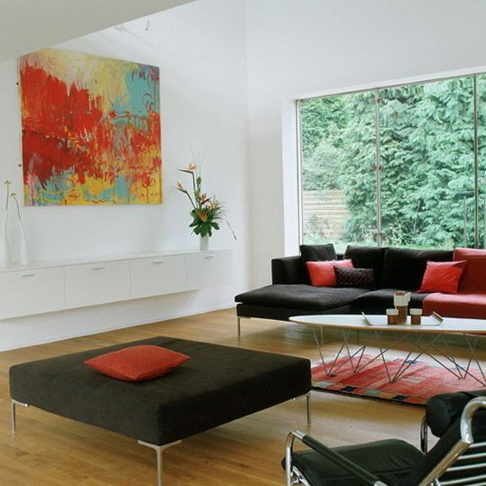 Фотография: Гостиная в стиле Минимализм, Декор интерьера, Квартира, Дом, Интерьер комнат – фото на INMYROOM