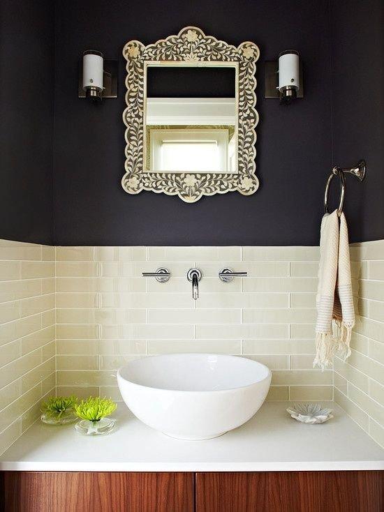 Фотография: Ванная в стиле Прованс и Кантри, Декор интерьера, Дизайн интерьера, Цвет в интерьере, Черный – фото на INMYROOM