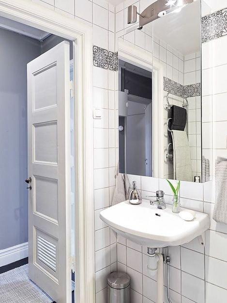 Фотография: Ванная в стиле Скандинавский, Декор интерьера, Квартира, Дом, Цвет в интерьере, Дома и квартиры, Белый, Винтаж – фото на INMYROOM