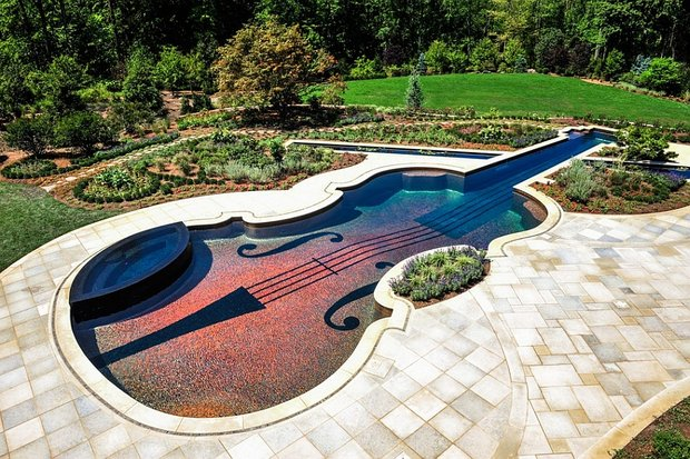Фотография: Ландшафт в стиле , Бассейн – фото на InMyRoom.ru