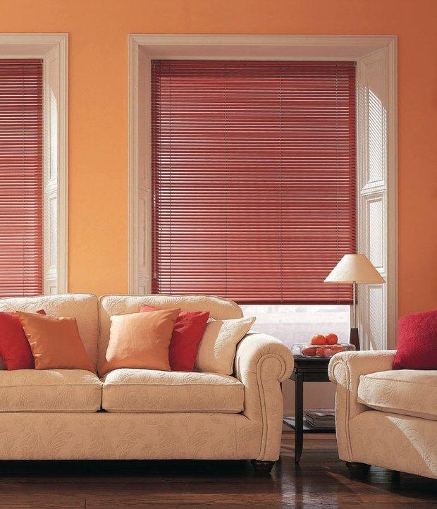 Фотография: Гостиная в стиле Восточный, Квартира, Декор, Советы, как выбрать жалюзи, жалюзи на окна – фото на INMYROOM