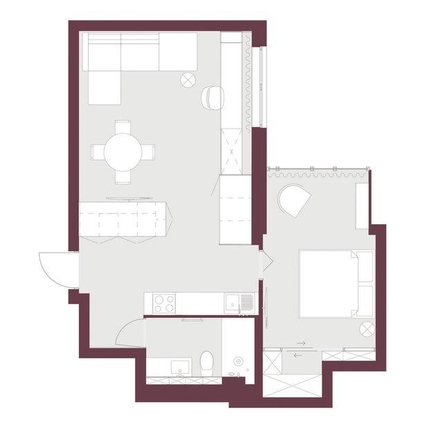 Фотография:  в стиле , Квартира, Планировки, Перепланировка, Гид – фото на INMYROOM