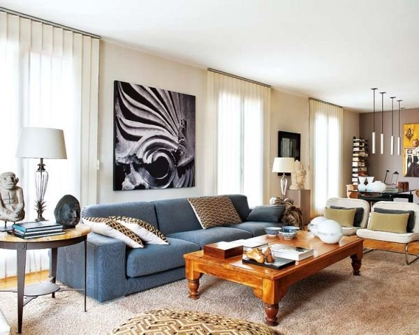 Фотография: Гостиная в стиле Эклектика, Декор интерьера, Квартира, Дома и квартиры, Майорка – фото на INMYROOM