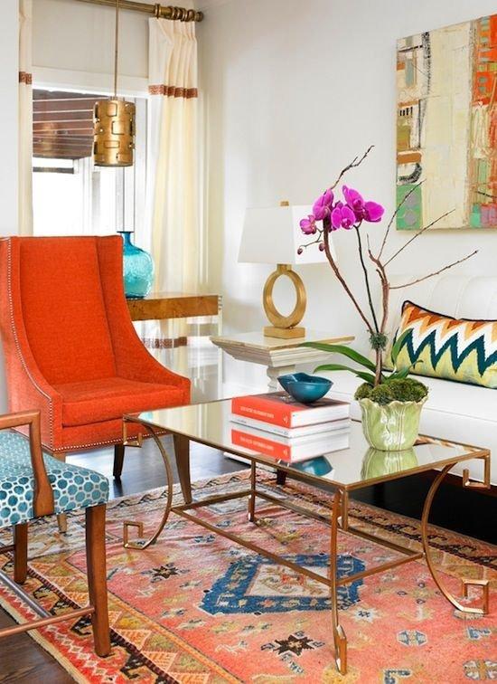 Фотография: Гостиная в стиле Классический, Современный, Эклектика, Декор интерьера, Декор дома, Цвет в интерьере – фото на INMYROOM