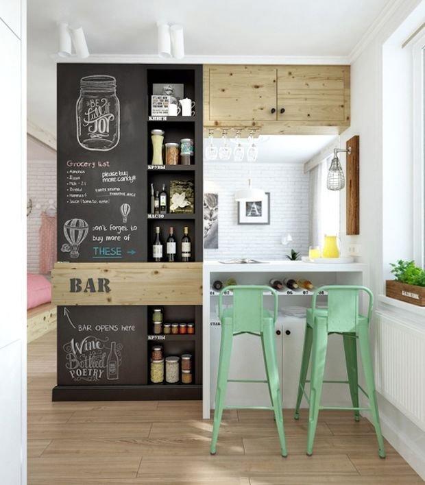 Фотография: Гостиная в стиле Современный, Кухня и столовая, Декор интерьера, Квартира, Студия, Дом, барная стойка на кухне, кухня-гостиная с барной стойкой – фото на INMYROOM