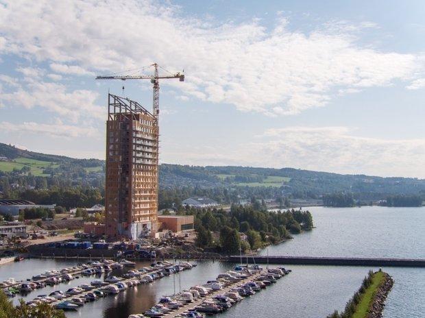 Mjøstårnet, Норвегия; источник фото: www.moelven.com