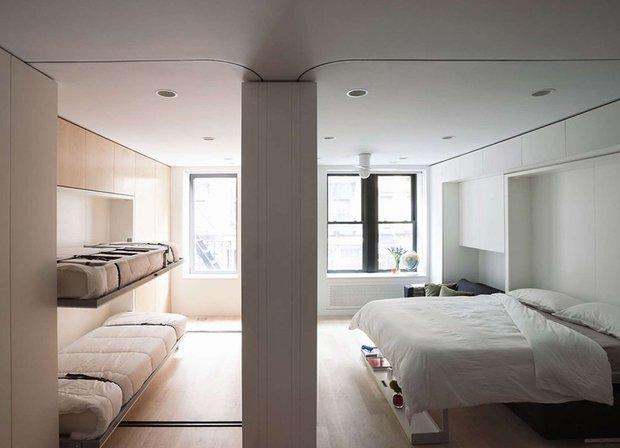 Фотография: Спальня в стиле Лофт, Малогабаритная квартира, Квартира, Стиль жизни, Советы – фото на INMYROOM