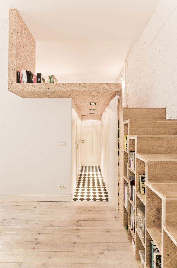 Фотография: Прихожая в стиле Лофт, Малогабаритная квартира, Квартира, Дома и квартиры, Минимализм – фото на INMYROOM