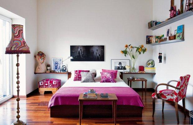 Фотография: Спальня в стиле Эклектика, Дома и квартиры, Интерьеры звезд, Ретро – фото на INMYROOM