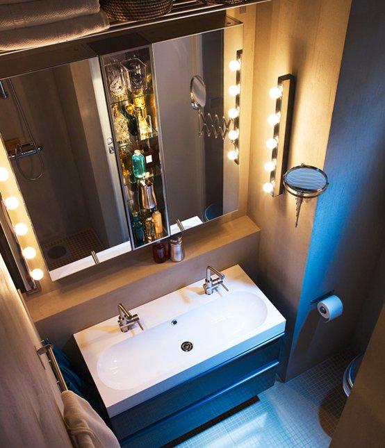 Фотография: Ванная в стиле Хай-тек, Интерьер комнат, Советы, IKEA, Зеркала – фото на INMYROOM