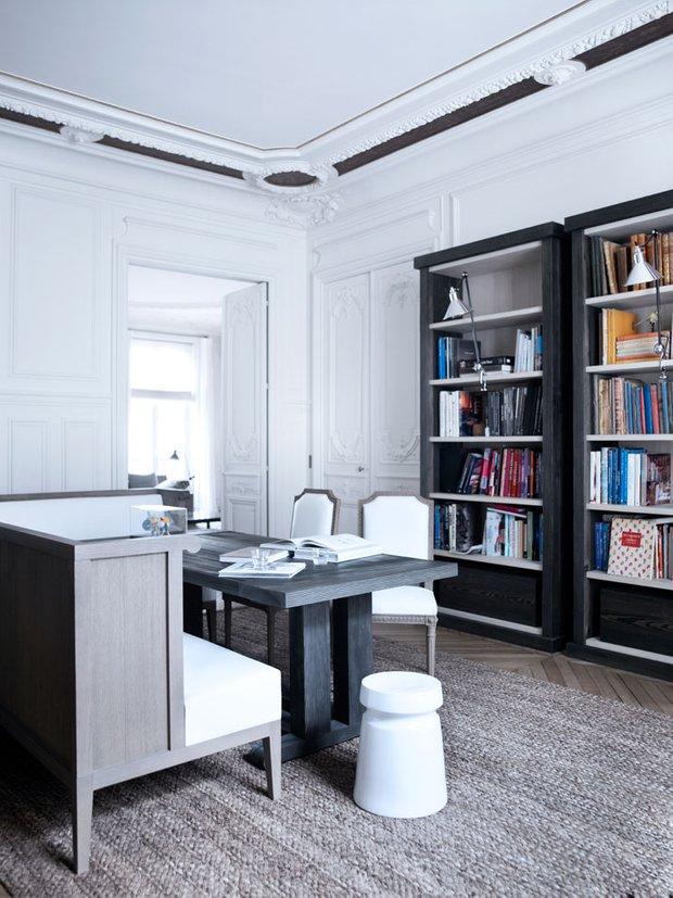 Фотография: Офис в стиле Скандинавский, Современный, Квартира, Дома и квартиры, Международная Школа Дизайна – фото на INMYROOM