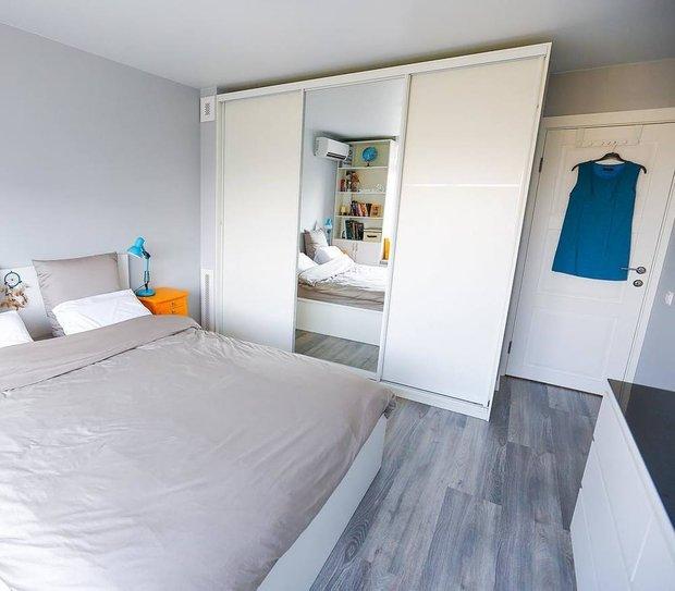 Фотография: Спальня в стиле Скандинавский, Ремонт на практике, 40-60 метров – фото на INMYROOM