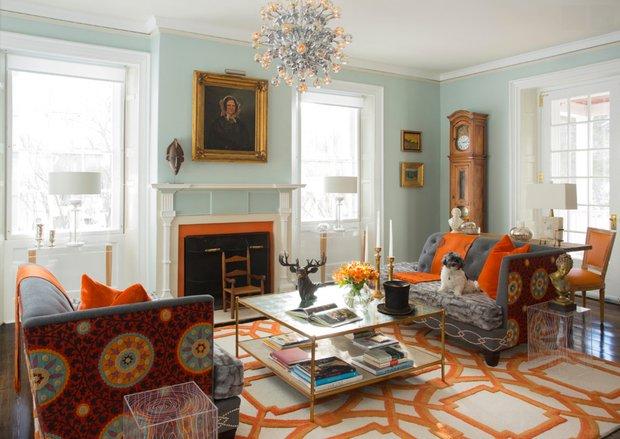 Фотография: Гостиная в стиле , Дом, Дома и квартиры, Интерьеры звезд – фото на INMYROOM