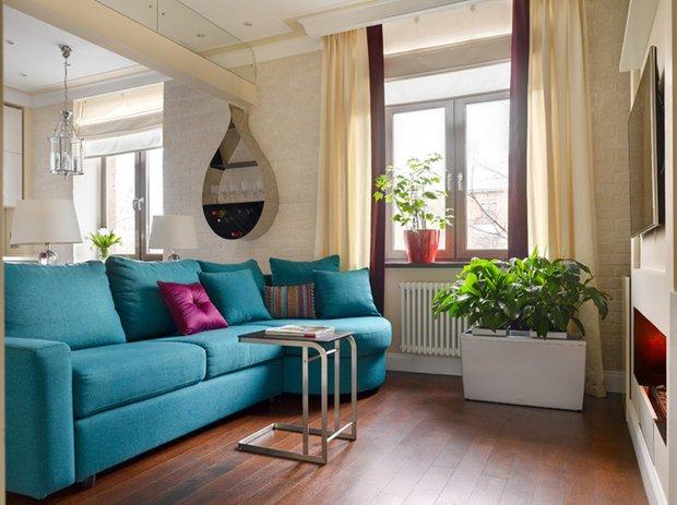 Фотография: Гостиная в стиле Современный, Декор интерьера, Кашпо, живые растения в интерьере, Как выбрать кашпо, Светлана Давыдова – фото на INMYROOM