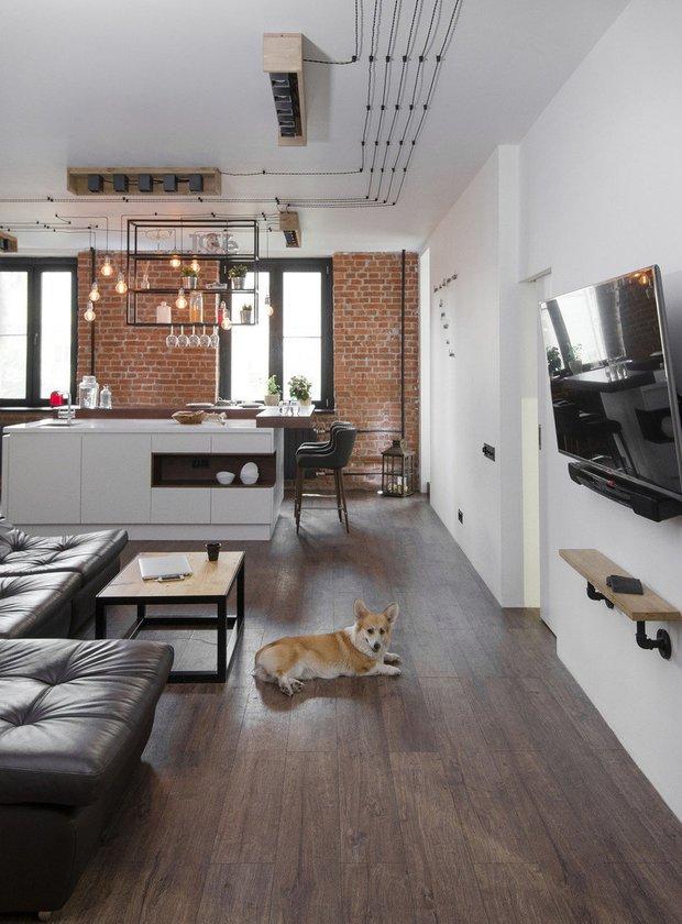 Фотография: Гостиная в стиле Лофт, Квартира, Студия, Советы, Гид – фото на INMYROOM