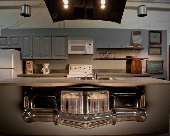 Фотография: Кухня и столовая в стиле Лофт, Интерьер комнат, Барная стойка – фото на INMYROOM