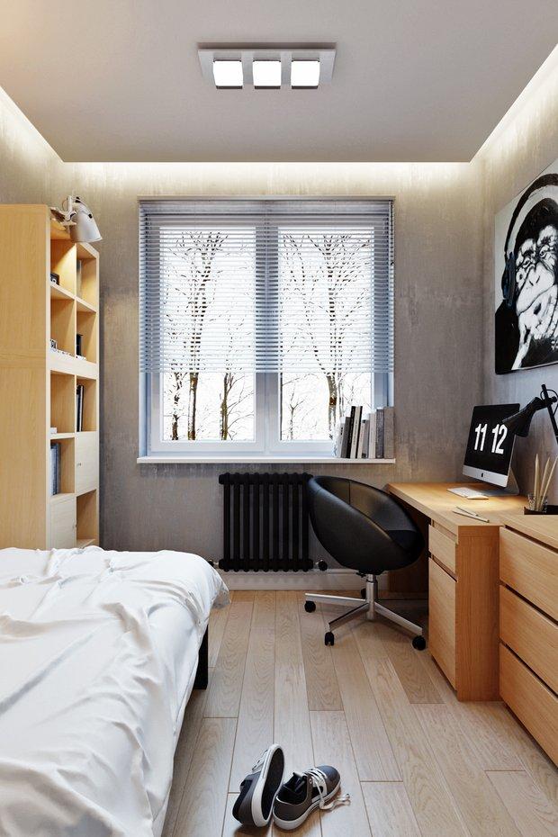Фотография: Спальня в стиле Современный, Лофт, Квартира, Проект недели – фото на INMYROOM