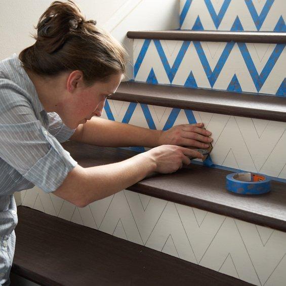 Фотография:  в стиле , Декор интерьера, DIY, Лестница, Краски – фото на INMYROOM