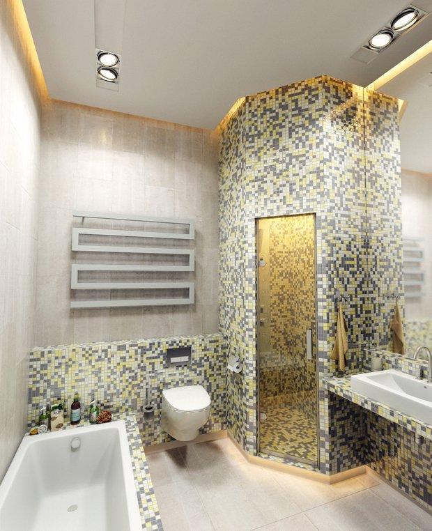Фотография: Ванная в стиле Современный, Хай-тек, Планировки, Индустрия, События, Ремонт на практике – фото на INMYROOM