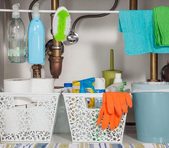 Фотография: Ванная в стиле , Квартира, Прочее, Советы, Системы хранения, Порядок, Организация пространства, Хранение мелочей, Хозяйке на заметку – фото на INMYROOM