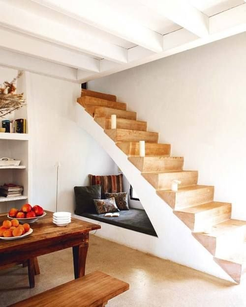 Фотография: Ванная в стиле Скандинавский, Советы, Гид, Дом и дача, ниша под лестницей – фото на INMYROOM