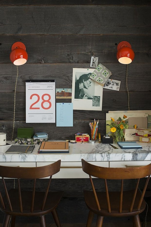 Фотография: Кабинет в стиле Прованс и Кантри, DIY, Аксессуары, Советы, хранение в прихожей, Хранение мелочей, лайфхаки для кухни – фото на INMYROOM