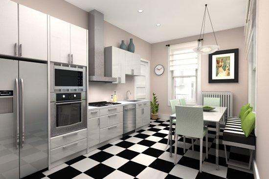 Фотография: Кухня и столовая в стиле Современный, Хай-тек, Интерьер комнат, Переделка – фото на INMYROOM