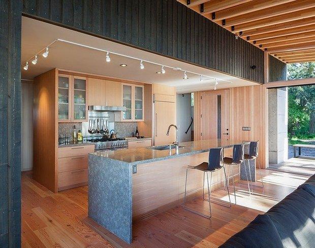Фотография: Кухня и столовая в стиле Современный, Дом, США, Дома и квартиры, Минимализм – фото на INMYROOM