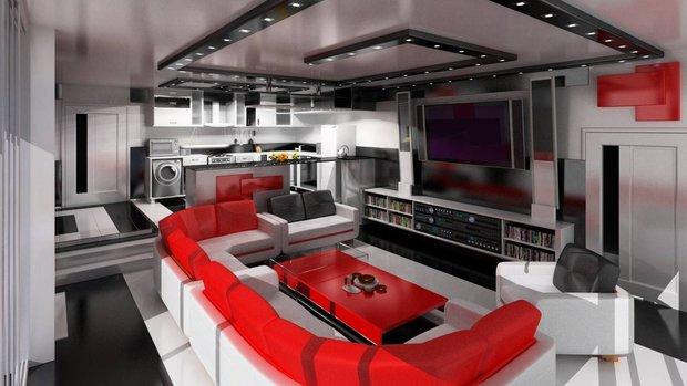 Фотография: Гостиная в стиле , Дизайн интерьера, Цвет в интерьере – фото на INMYROOM