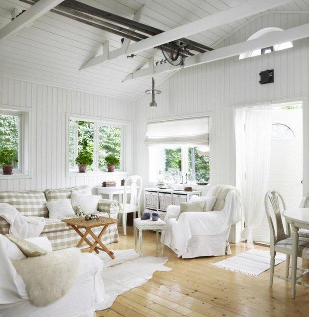 Фотография: Гостиная в стиле Скандинавский, Дом, Дома и квартиры, Дача – фото на INMYROOM