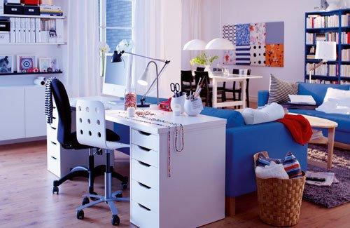 Фотография: Кабинет в стиле Современный, Интерьер комнат, Системы хранения – фото на INMYROOM