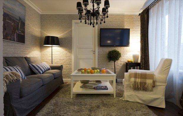 Фотография: Гостиная в стиле Эклектика, Квартира, Дома и квартиры, Советы – фото на INMYROOM