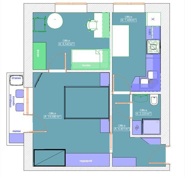Фотография: Планировки в стиле , Квартира, Перепланировка, перепланировка двухкомнатной квартиры, двушка, ЖК ART, ИП-46с, перепланировка двушки, идеи для двухкомнатной квартиры, П-3/16, II-18/9, И-522А, II-02, II-68-03, И-1724, Сталинка, Панельный дом, Хрущевка, Кирпичный дом, Монолитный дом, Блочный дом – фото на INMYROOM
