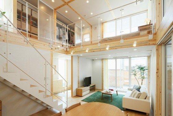 Фотография: Гостиная в стиле Лофт, Дом, Дома и квартиры, Япония – фото на InMyRoom.ru