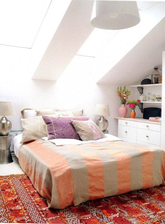 Фотография: Спальня в стиле Скандинавский, Дом, Чердак, Мансарда – фото на InMyRoom.ru