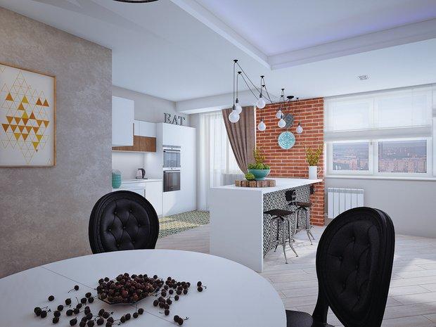 Фотография: Кухня и столовая в стиле , Классический, Современный, Квартира, Планировки, Мебель и свет, Проект недели – фото на InMyRoom.ru