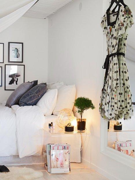 Фотография: Спальня в стиле Скандинавский, Малогабаритная квартира, Квартира, Дома и квартиры, Мансарда – фото на InMyRoom.ru