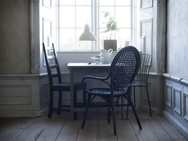 Фотография: Кухня и столовая в стиле Прованс и Кантри, Индустрия, Новости, IKEA, Ткани, Кресло, Ваза, Стулья, Постеры, Принты, Плетеная мебель – фото на INMYROOM