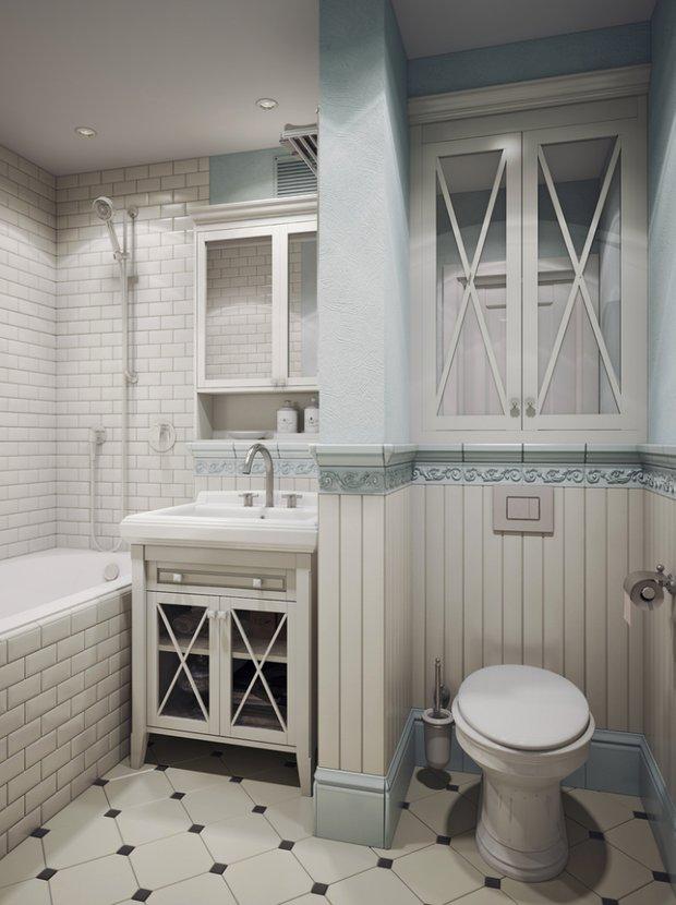 Фотография: Ванная в стиле Прованс и Кантри, Советы, маленькая ванная – фото на INMYROOM
