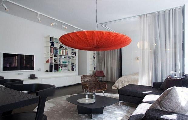 Фотография: Гостиная в стиле Эко, Декор интерьера, Малогабаритная квартира, Квартира, Студия – фото на INMYROOM